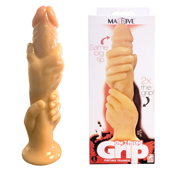 The 2 Fisted Grip - Cock-In-Hands Dildo