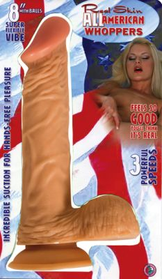 8 Inch All American Whopper Vibrating Dildo