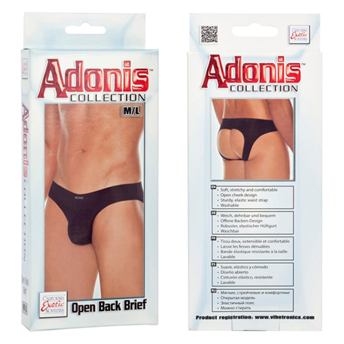 Adonis Mesh Open Back Brief