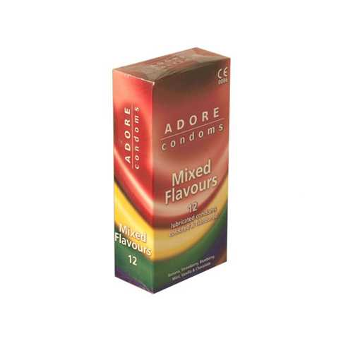 Adore Mixed Flavours Condoms 12 pcs