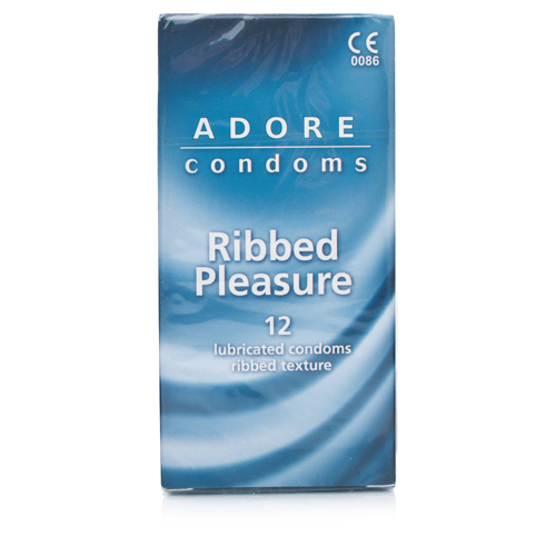 Adore Ribbed Pleasure Condoms 12 pcs