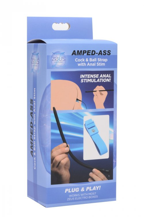 Amped Ass Cock and Ball Strap with Anal eStim