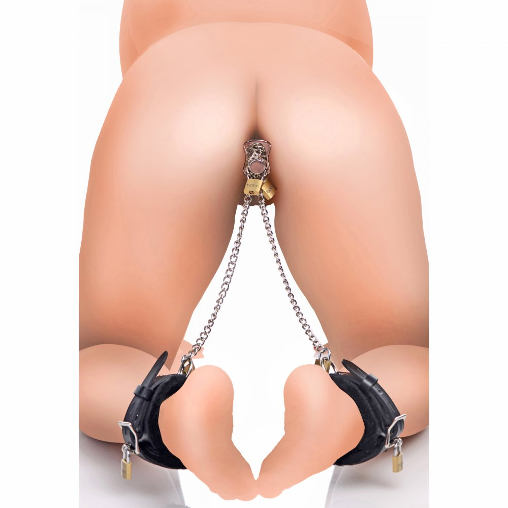 Ankles to Anal Plug Locking Bondage Kit