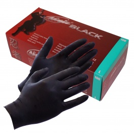 Black Ninja Latex disposable gloves (100 pcs)
