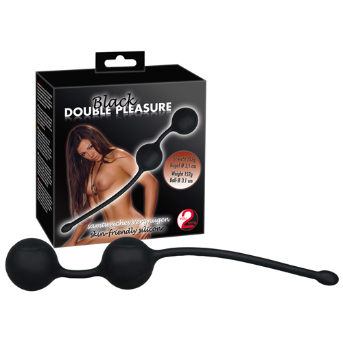 Black Double Pleasure Heavy Silicone Balls