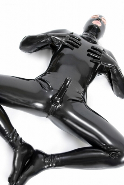 Latex Catsuit with Penis Sheath