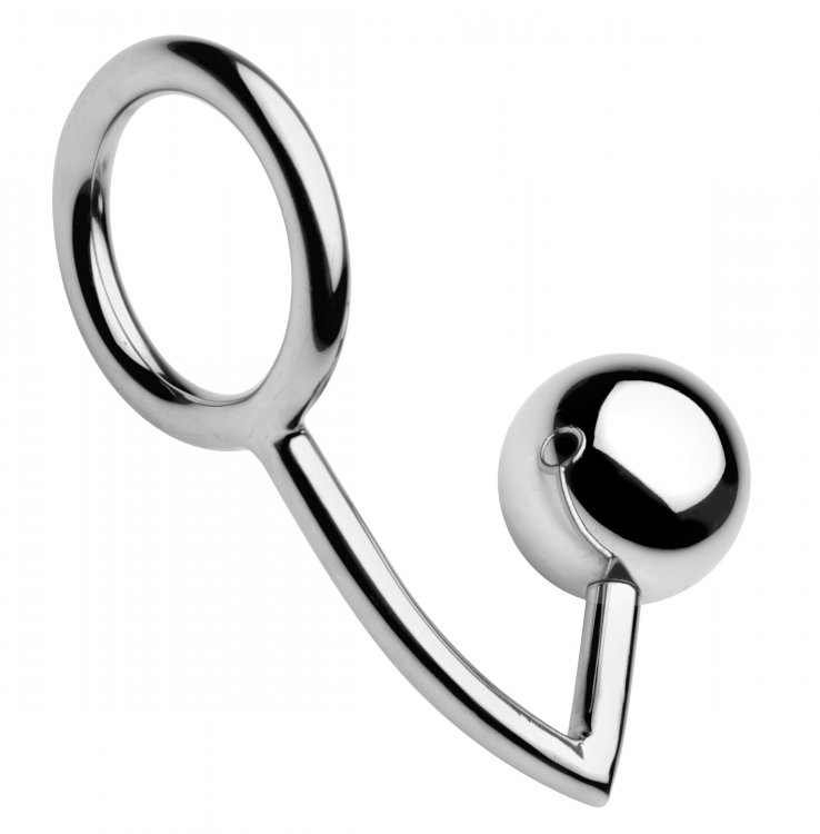 Chrome Cock Ring and XL Anal Intruder