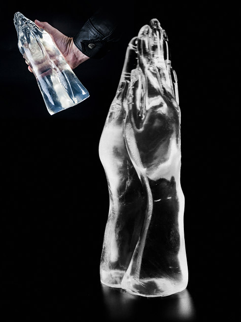 Clear Double Hand Dildo DCC25