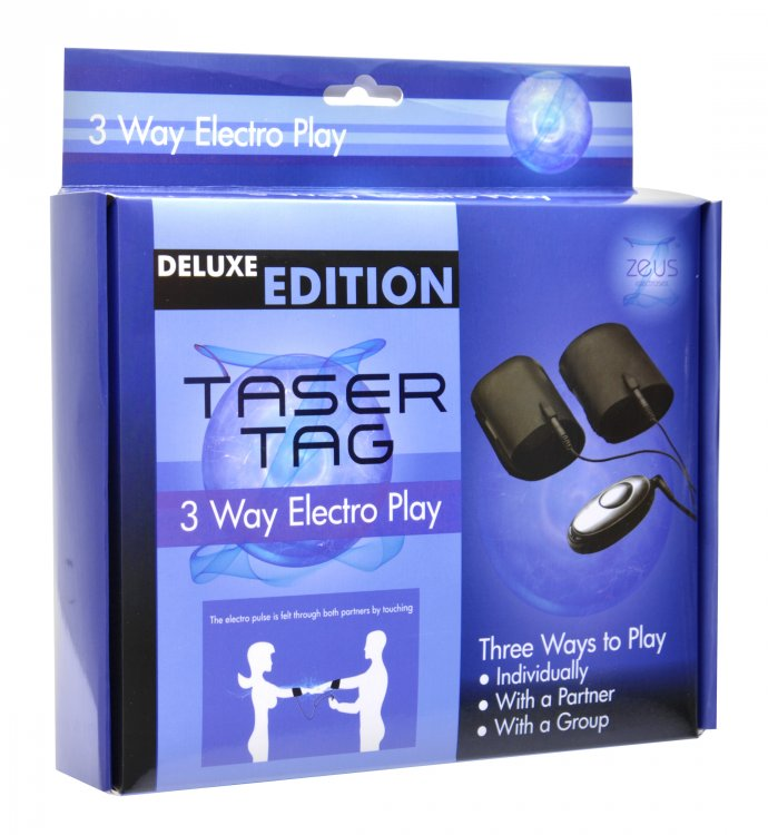 Deluxe Edition Taser Tag 3 Way Electro Play Cuffs