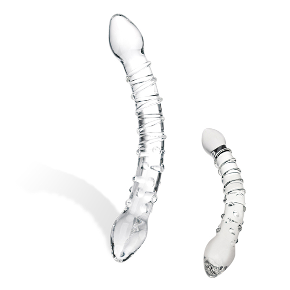 Double Trouble Glass Dildo