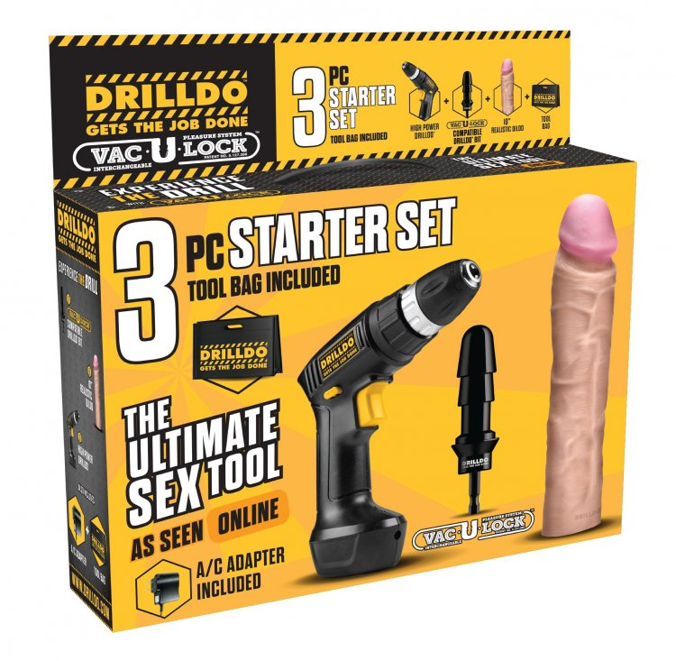 3 Piece Drilldo Starter Set