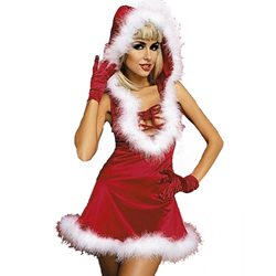 3 Piece Christmas Dress - Elegant Santa Lady