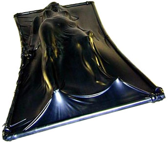 Extreme Black Latex Vacuum Bed