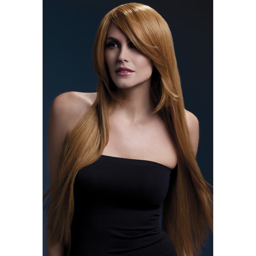 Fever Amber Wig 71cm Long Straight with Feathered Fringe