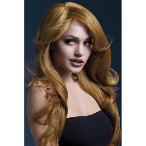 Nicole Wig 66cm Auburn Soft Wave with Side Parting