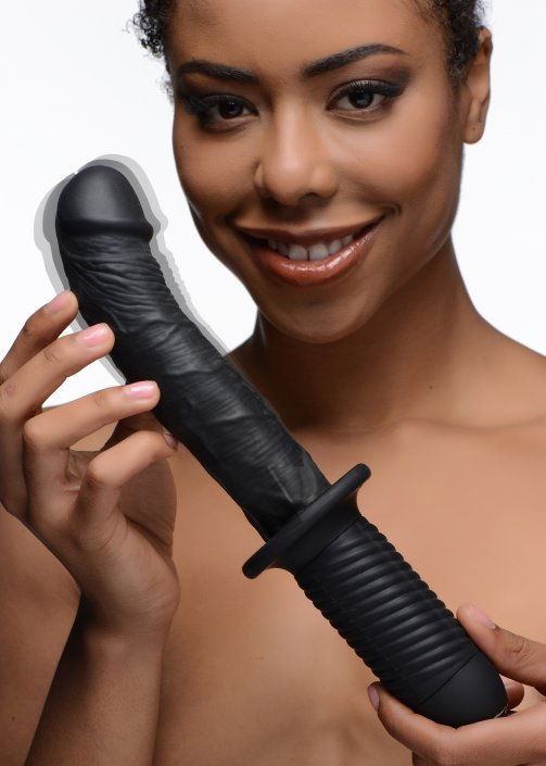 Large Realistic 10X Silicone Vibrator with Handle