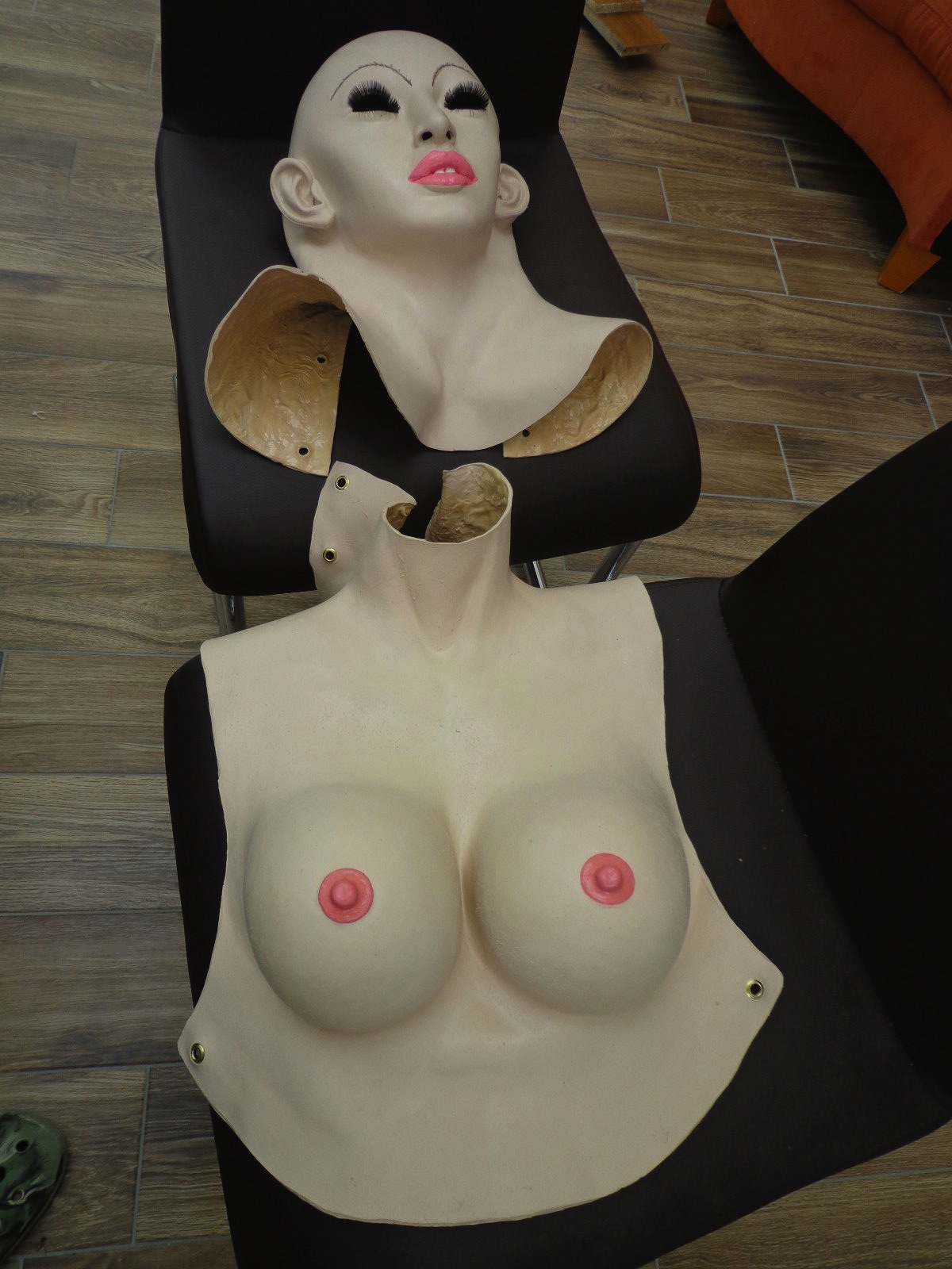 Latex Female Torso & Mask