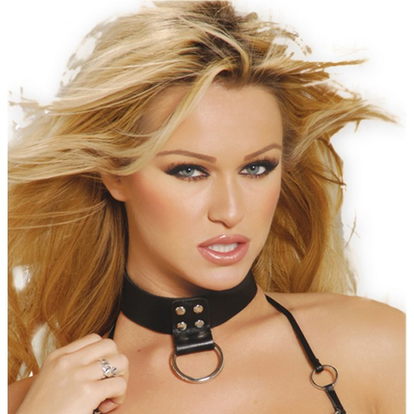 Leather Choker with D-ring