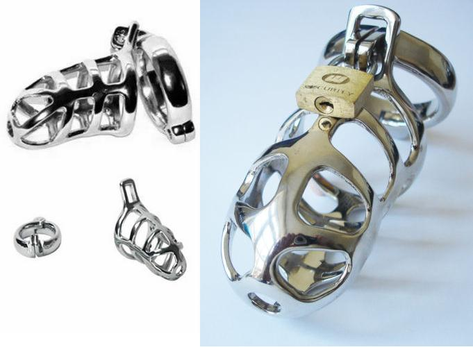 Male Chastity Device Heavy Chrome