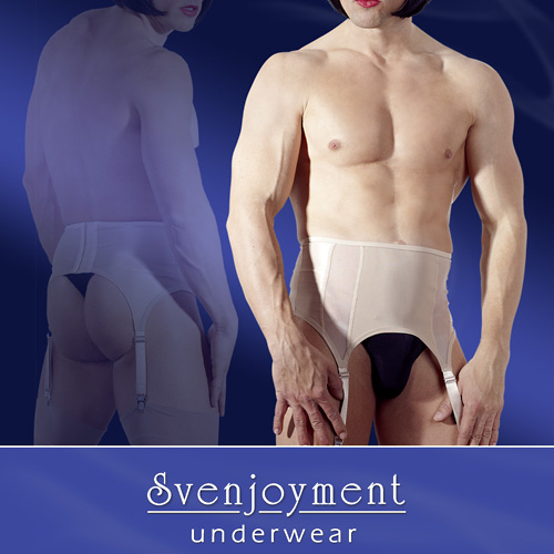 Nude Male Suspender Belt
