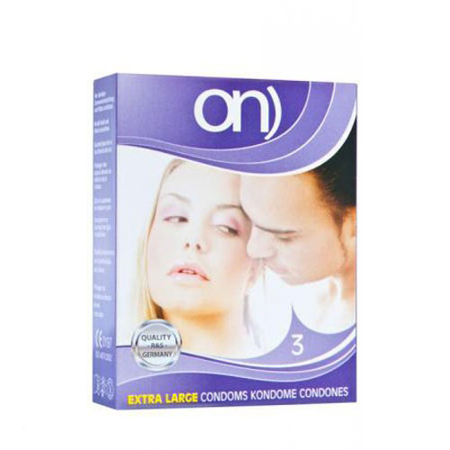 ON Extra Large condoms 3pcs