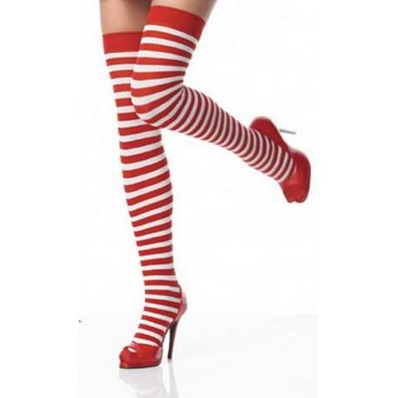 Red-white striped stockings