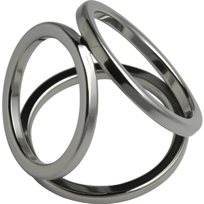 Surgical Steel Triple Cock Ring