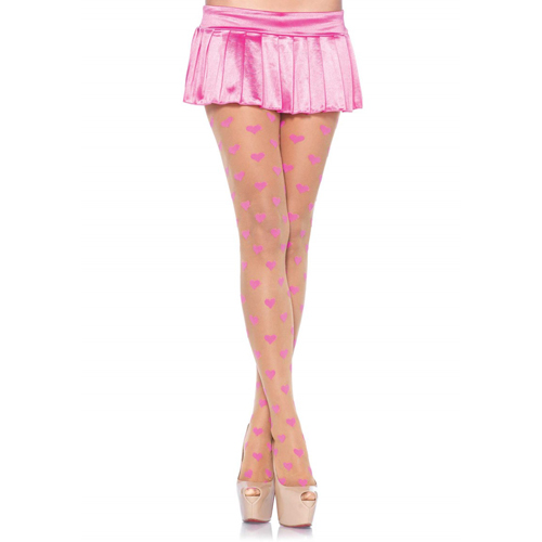 Be Mine Pantyhose Pink