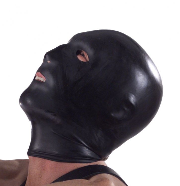 Black Hood with Eye, Mouth & Nose Holes
