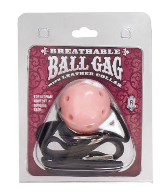 Breathable Ball Gag with Leather Collar