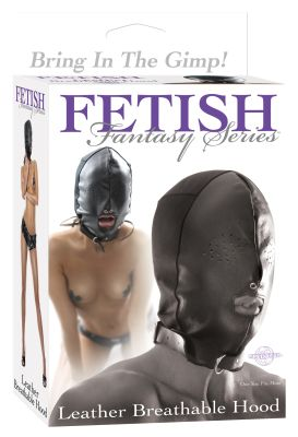Fetish Fantasy Leather Breathable Hood
