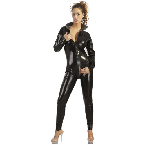 Latex Catsuit with stand-up collar
