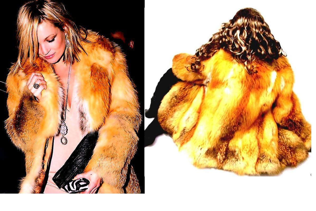 Sexy Red Fox Fur Jacket
