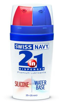 2-in-1 Dispenser: Silicone and Water Based Lube