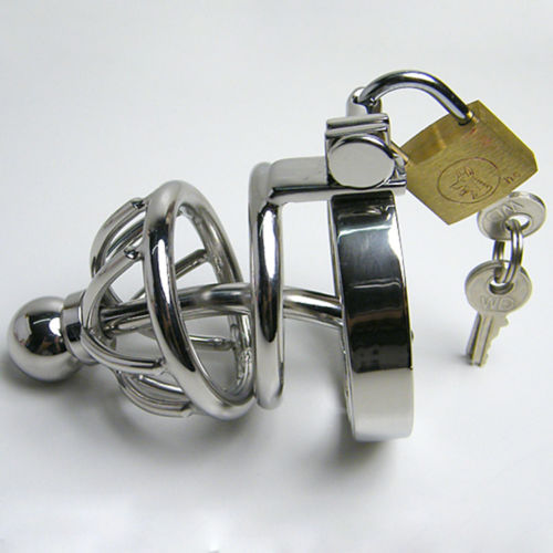 Chastity with Urethral Catheter & Ultra Short Cage