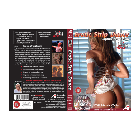 Erotic Strip Dance Educational DVD