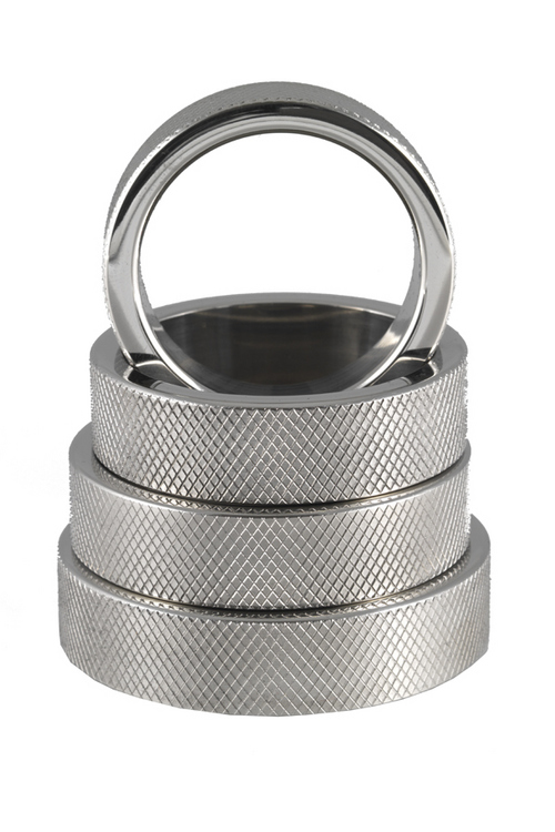 Heavy stainless steel solid cockring